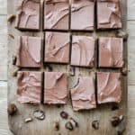 Chestnut Brownies on a wooden board