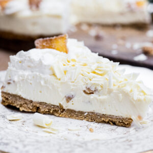 White Chocolate Ginger Cheesecake