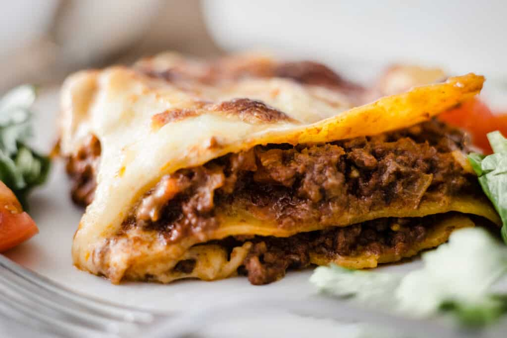 gluten-free lasagne on a plate
