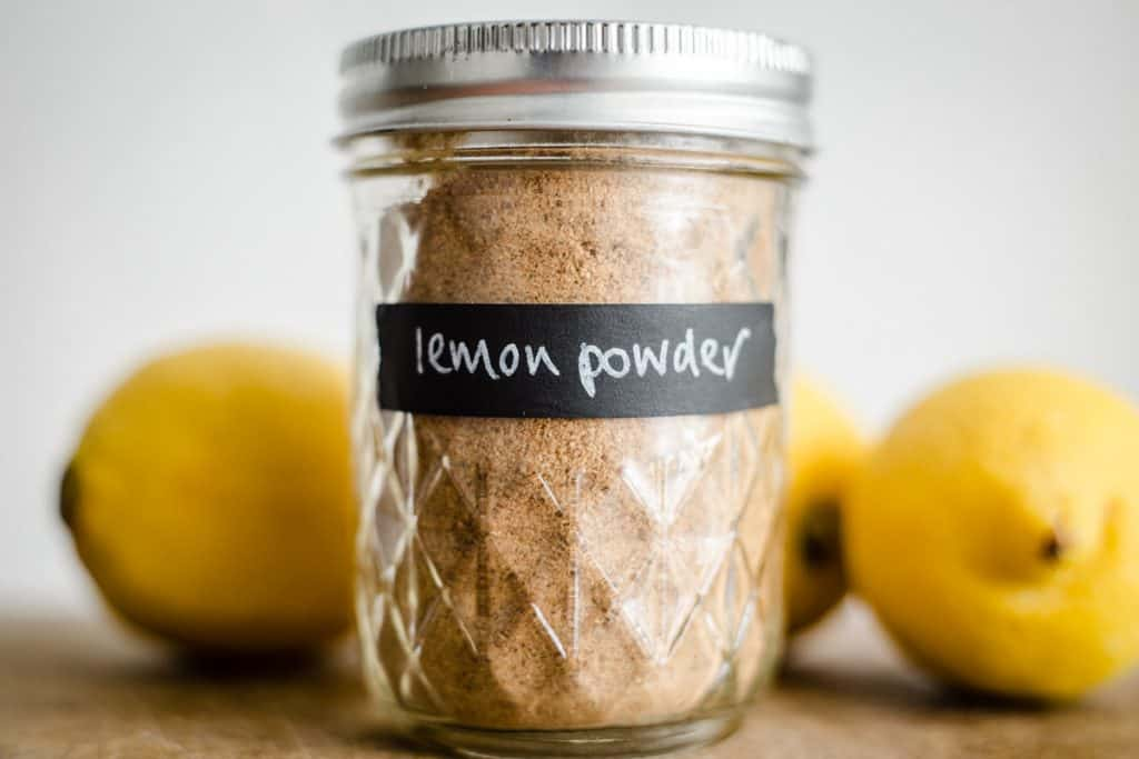 Lemon Powder in a jar