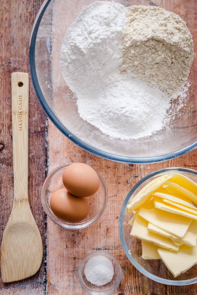 Ingredients for gluten-free pastry