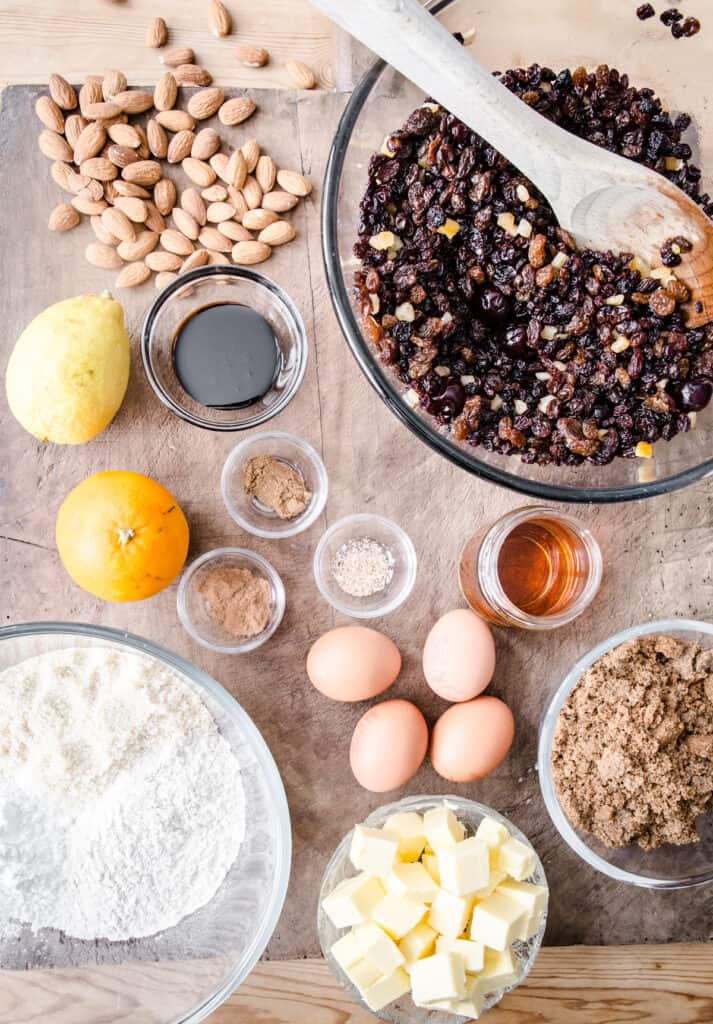 ingredients for christmas cake