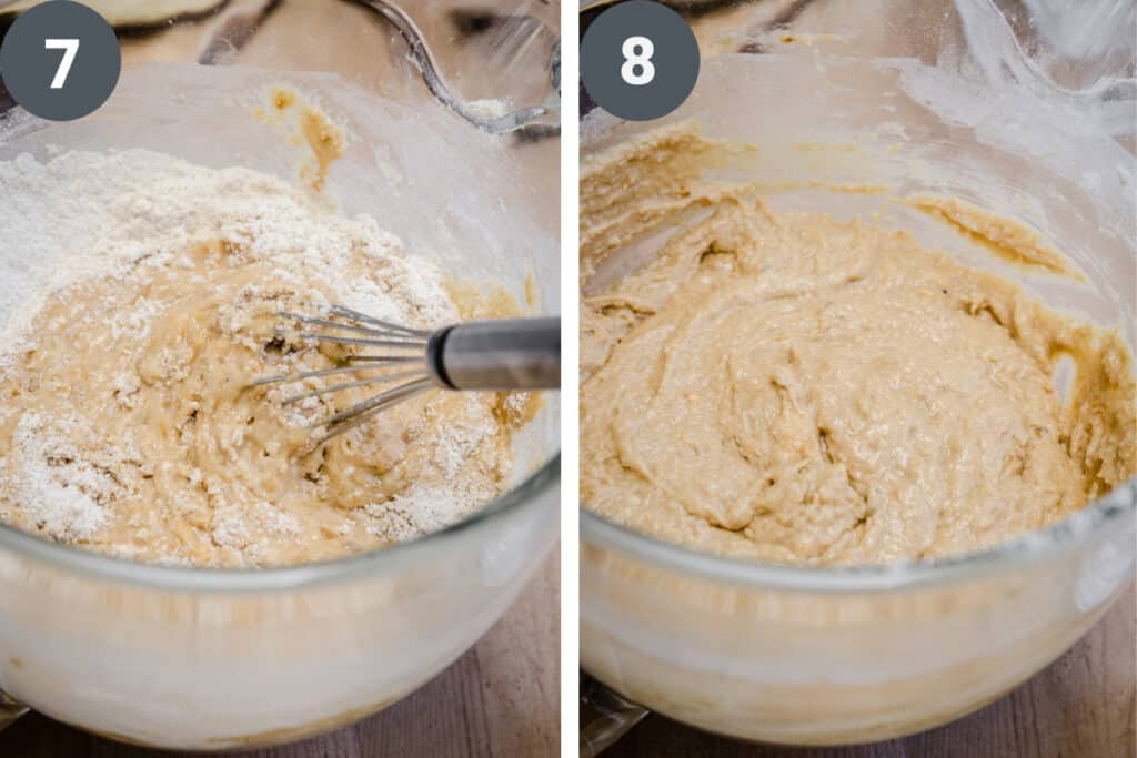 process images of making plantain bread