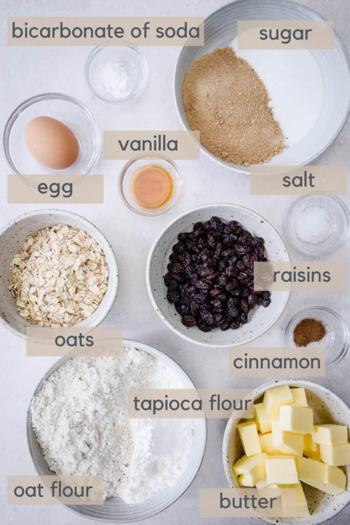 raisin cookies ingredients