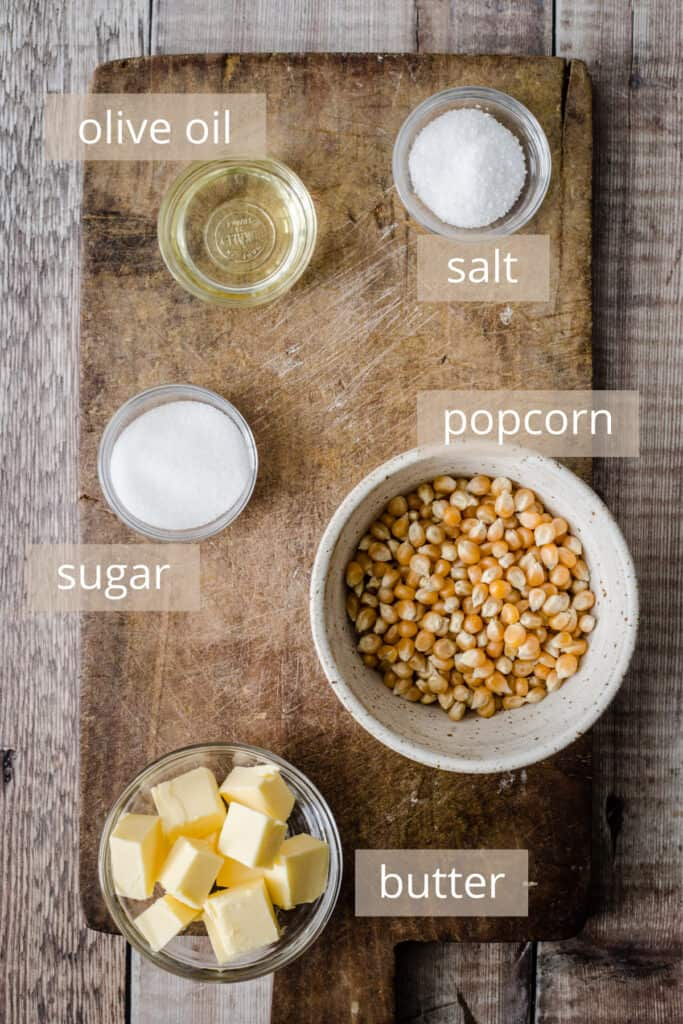 ingredients for perfect popcorn