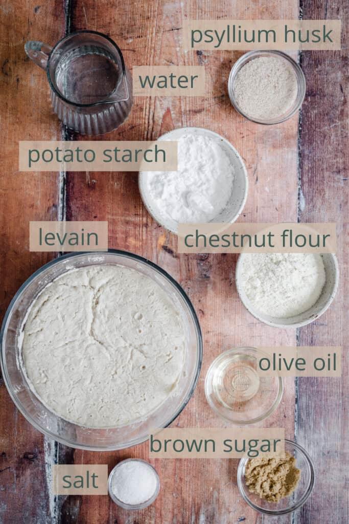 ingredients for sourdough bread